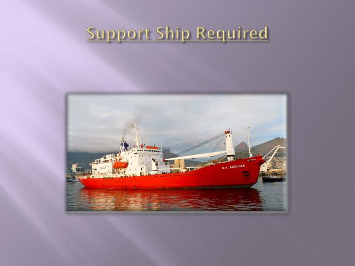 Support Ship Required