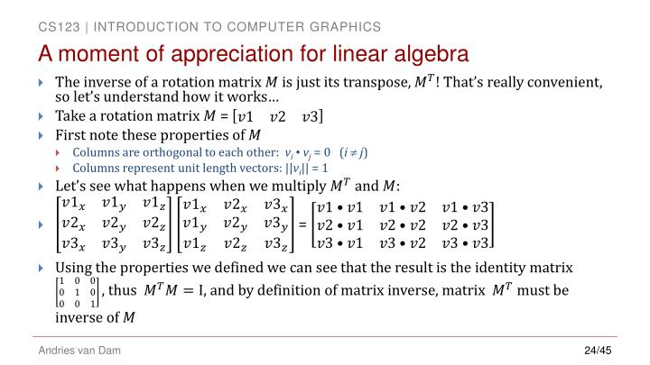 A moment of appreciation for linear algebra