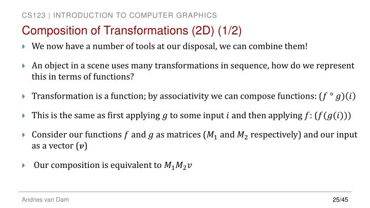 Composition of Transformations (2D) (1/2)