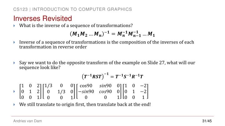 Inverses Revisited