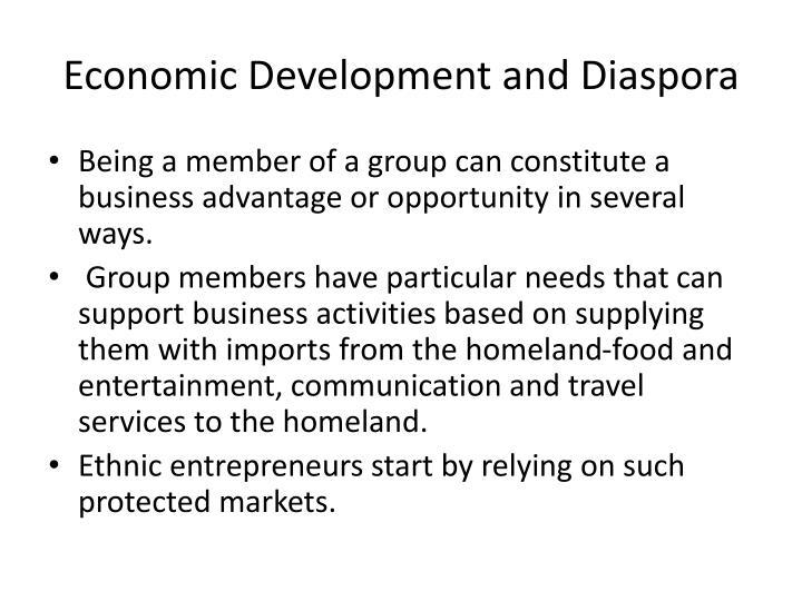 Economic Development and Diaspora