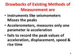 drawbacks of existing methods of measurement are