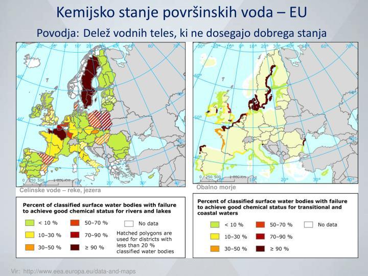 Kemijsko stanje površinskih voda – EU