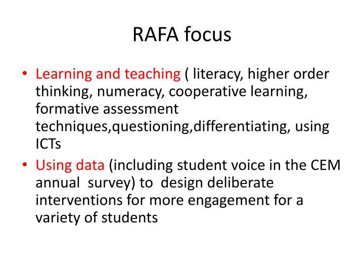 RAFA focus