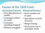 causes of the 1929 crash