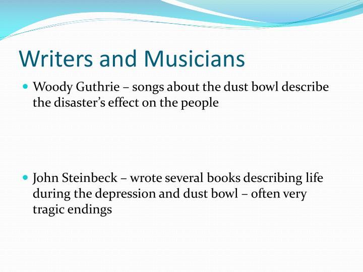 Writers and Musicians