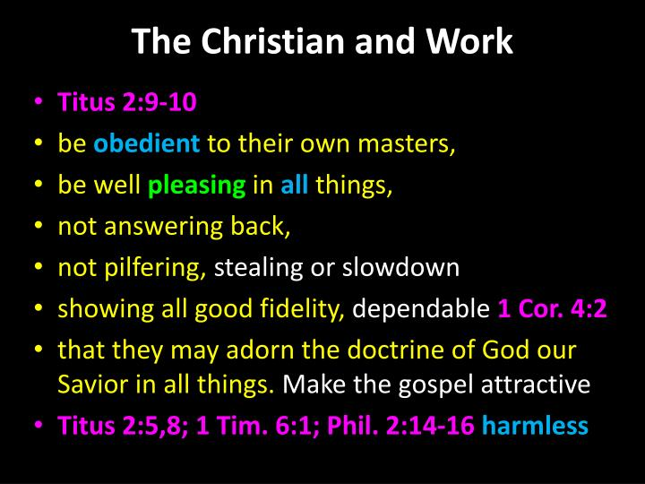 The christian and work2