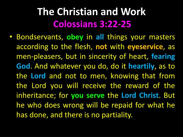 The Christian and Work