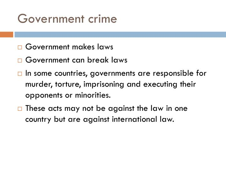 Government crime
