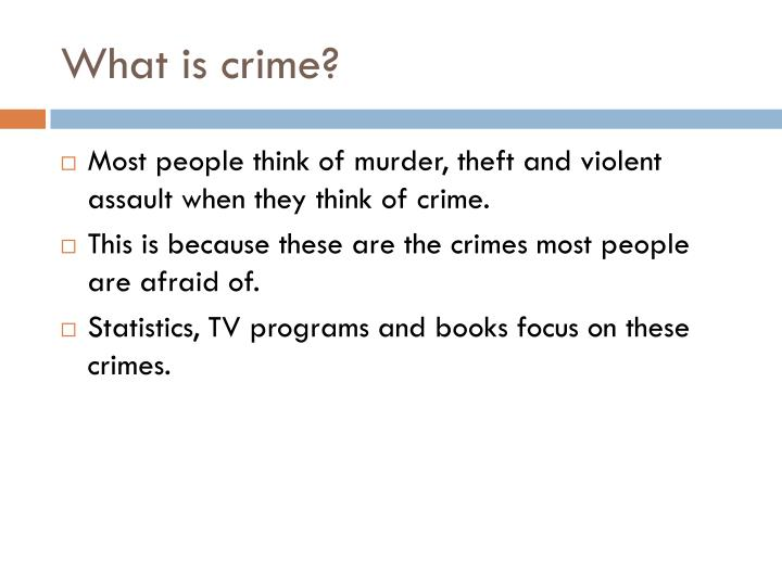 What is crime1