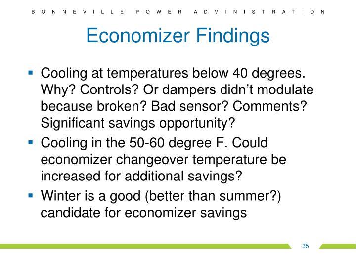 Economizer Findings