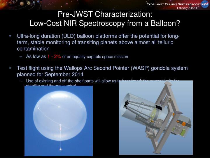 Pre-JWST Characterization