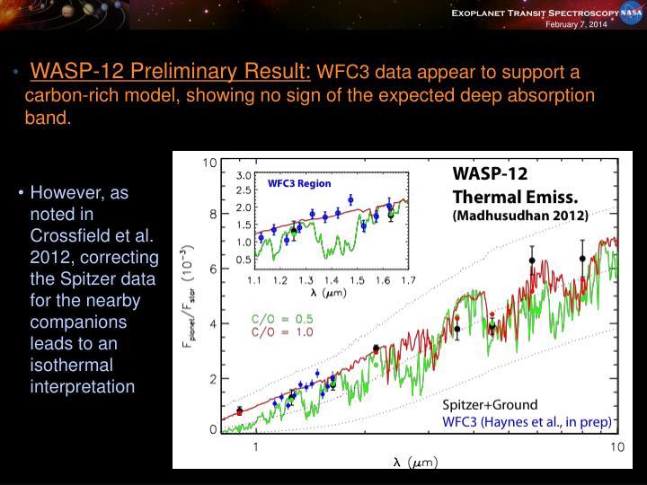 WASP-12 Preliminary