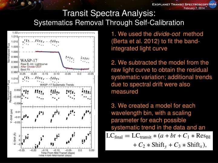 Transit Spectra Analysis: