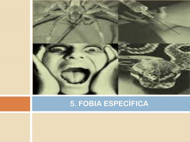 5. FOBIA ESPECÍFICA