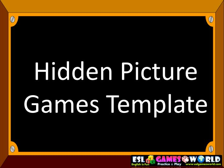 Hidden picture games template