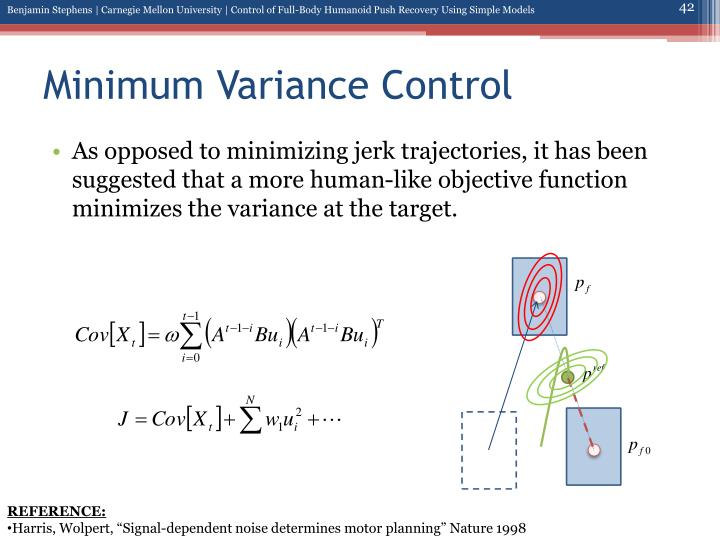 Minimum Variance Control