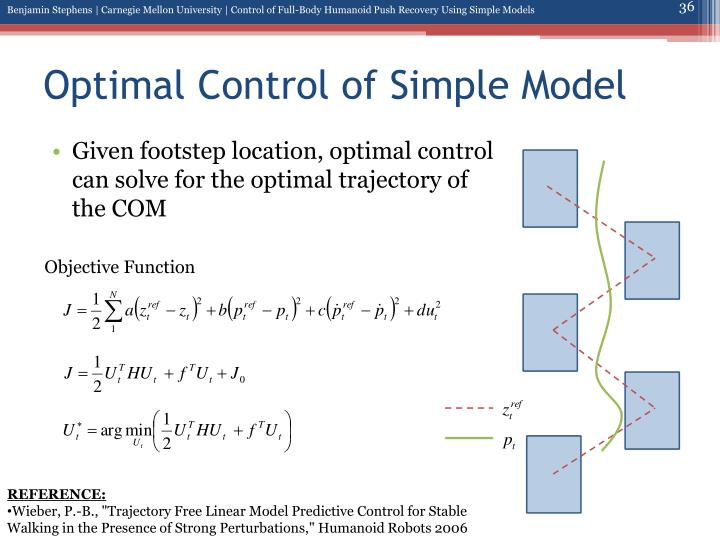 Optimal Control of Simple Model
