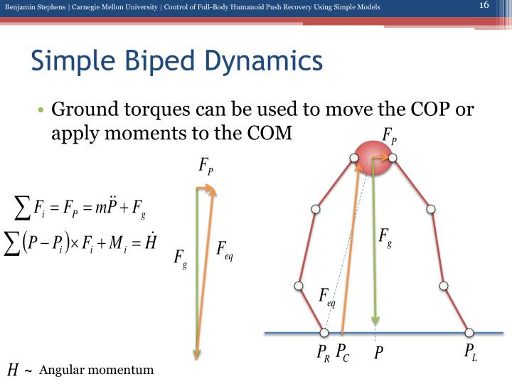 Simple Biped Dynamics