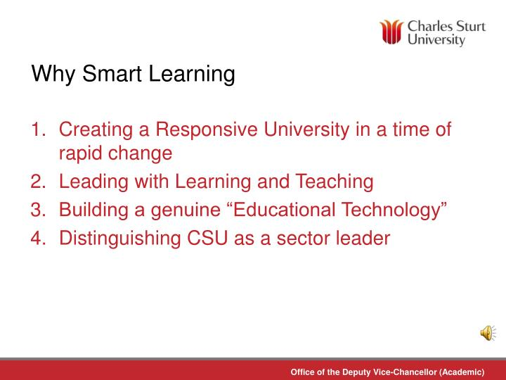 Why Smart Learning
