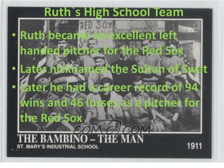 Ruth`s High School Team