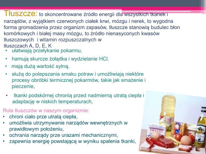 Tłuszcze: