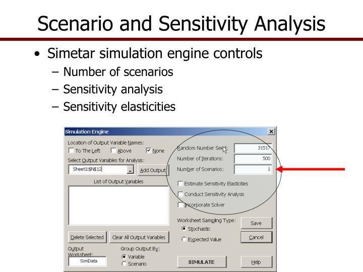 Scenario and Sensitivity Analysis