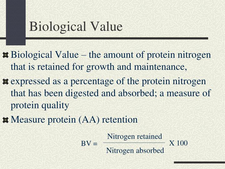 Biological Value