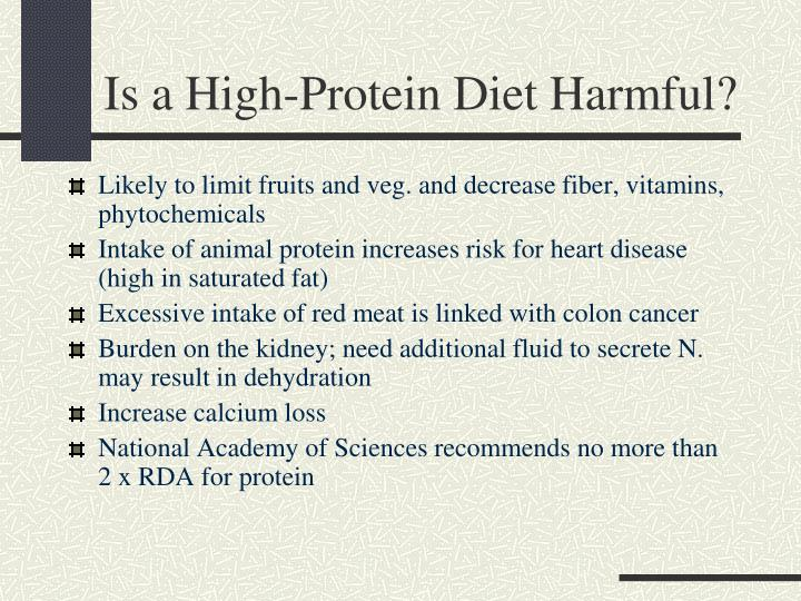 Is a High-Protein Diet Harmful?