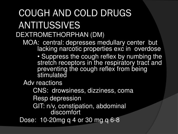 Ppt Cough And Cold Preparations Powerpoint Presentation