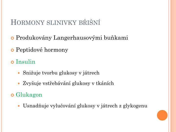 Hormony slinivky břišní