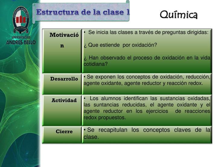 Estructura de la clase 1