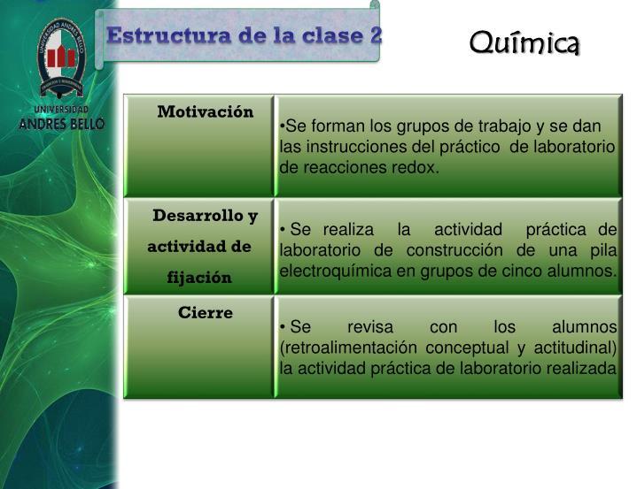 Estructura de la clase 2