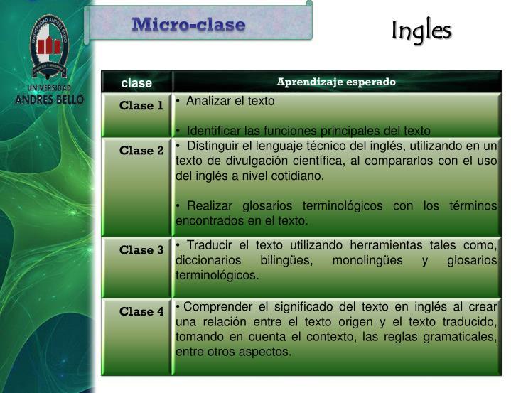 Micro-clase