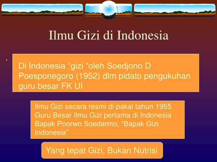 Ilmu Gizi di Indonesia