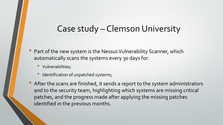 Case study – Clemson University