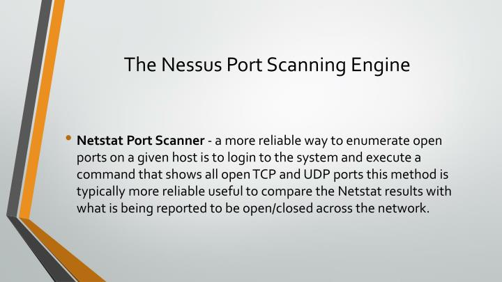 The Nessus Port Scanning Engine