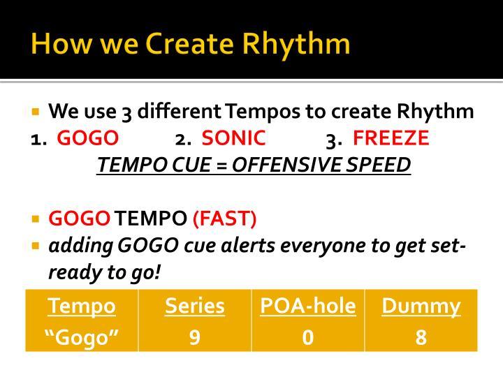 How we Create Rhythm
