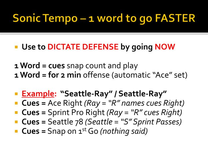 Sonic Tempo – 1 word to go FASTER