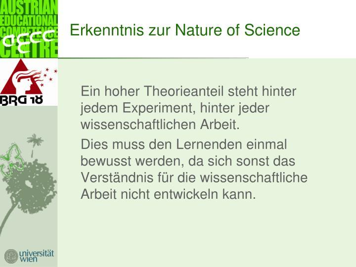 Erkenntnis zur Nature