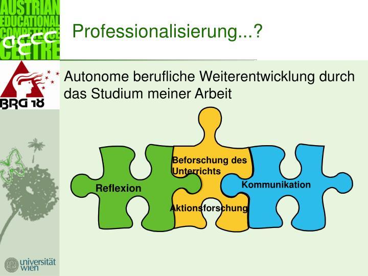 Professionalisierung...?