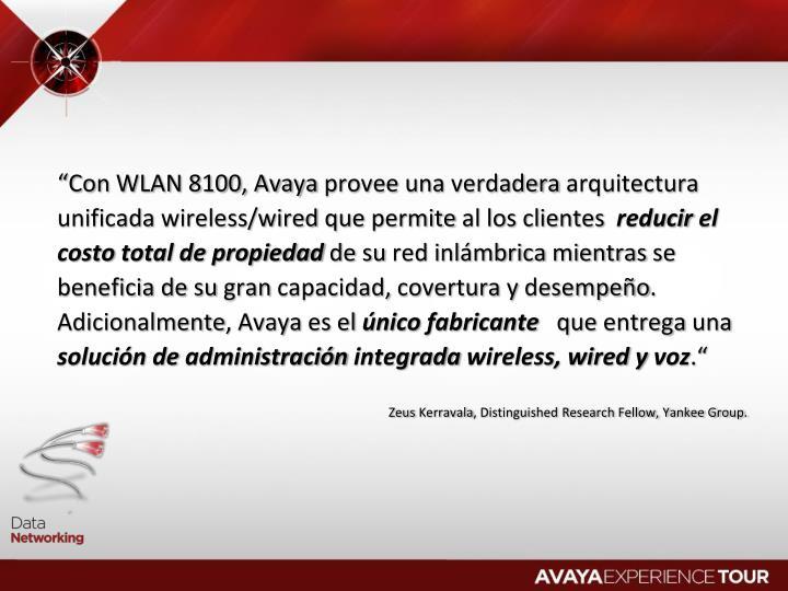 """Con WLAN 8100, Avaya"