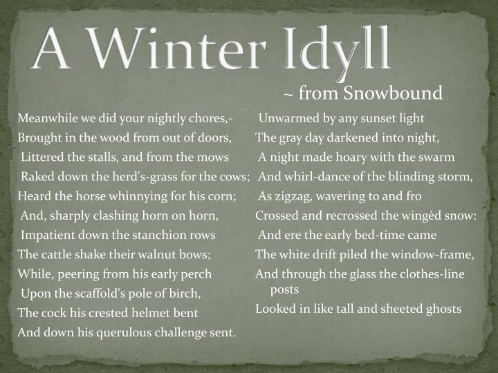 A Winter Idyll