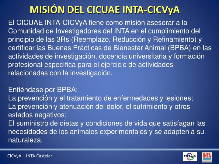 MISIÓN DEL CICUAE INTA-