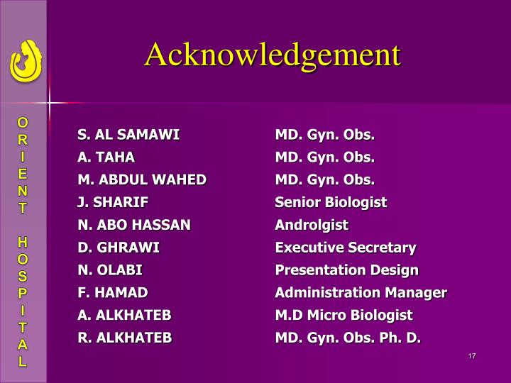 how to say acknowledgement in presentation