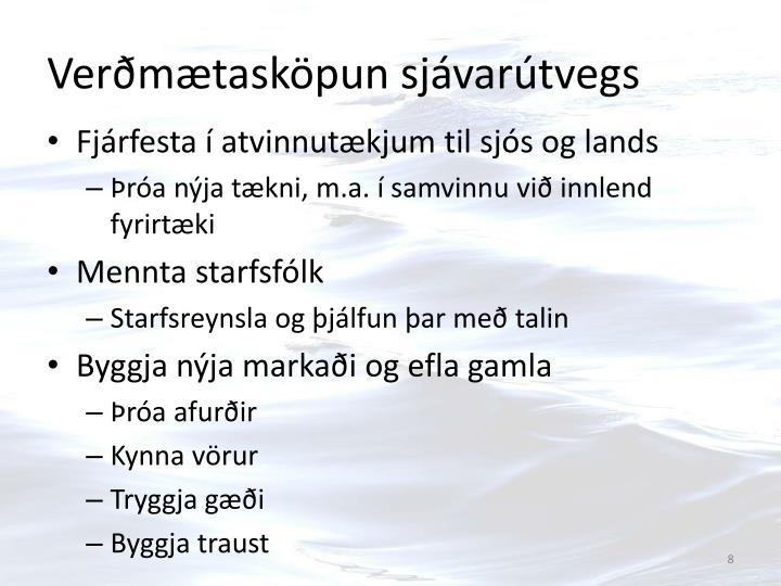 Verðmætasköpun sjávarútvegs