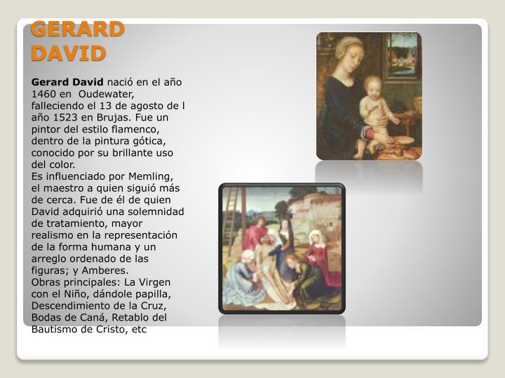 GERARD DAVID