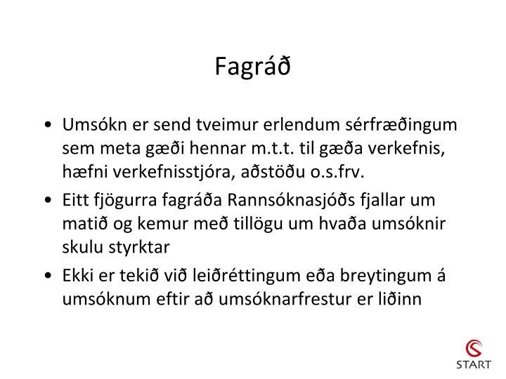 Fagráð