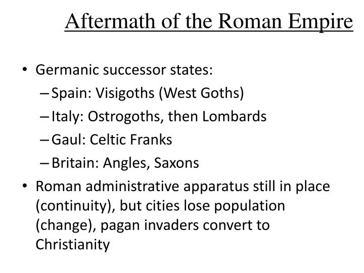 Aftermath of the roman empire