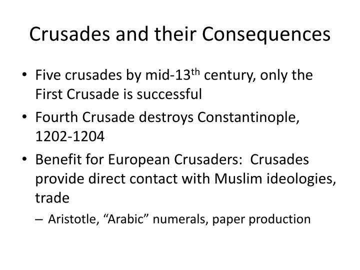 Crusades and their Consequences